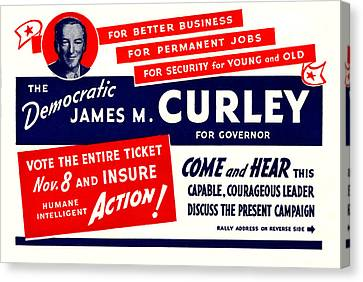 1934 James Michael Curley Canvas Print by Historic Image