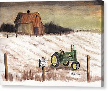 1934 John Deere Model A For Sale Canvas Print