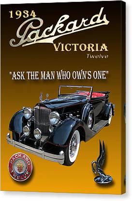 1934 Packard Canvas Print by Jack Pumphrey