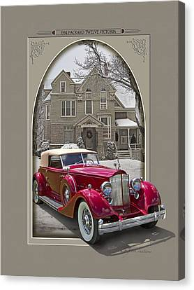 1934 Packard Twelve Victoria Canvas Print