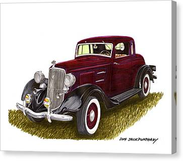 1934 Plymouth P E Coupe Canvas Print by Jack Pumphrey
