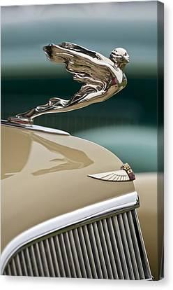 1935 Cadillac Convertible Hood Ornament Canvas Print by Jill Reger