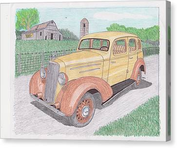 1935 Chevy Sedan Canvas Print