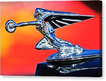 1935 Packard Hood Ornament -0295c Canvas Print