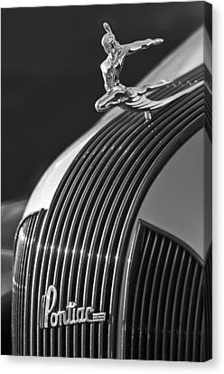 1935 Pontiac Sedan Hood Ornament 3 Canvas Print by Jill Reger