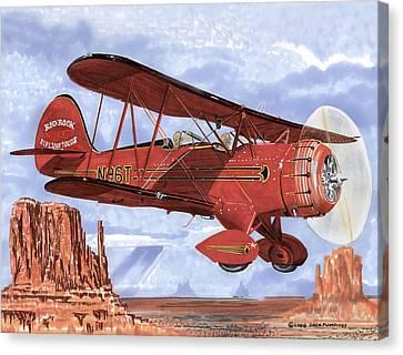 Monument Valley Bi-plane Canvas Print by Jack Pumphrey