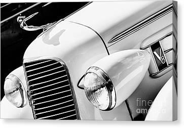 1936 Cadillac V8 Monochrome Canvas Print by Tim Gainey