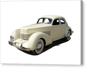 1936 Cord 810 Westchester Sedan Canvas Print by Jack Pumphrey