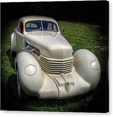 Canvas Print featuring the photograph 1936 Cord Automobile by Thom Zehrfeld