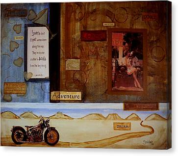1936 Crocker Motorcycle  Lovers And Souls Canvas Print