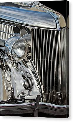 1936 Ford Stainless Steel Grille Canvas Print