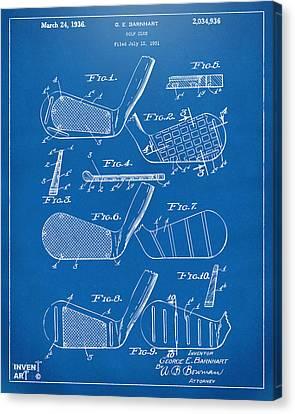 1936 Golf Club Patent Blueprint Canvas Print by Nikki Marie Smith