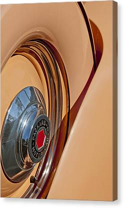 1936 Packard Spare Tire  Canvas Print by Jill Reger