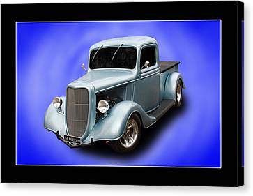 Canvas Print featuring the photograph 1936 Pickup by Keith Hawley