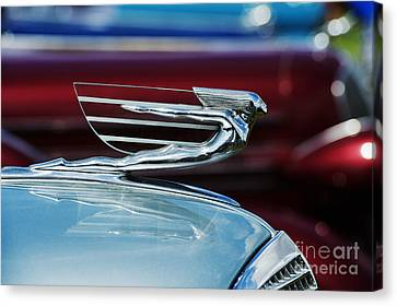 1937 Cadillac Hood Ornament Canvas Print by Tim Gainey