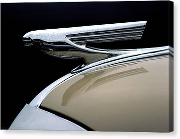 1937 Chevrolet Hood Ornament Canvas Print by Carol Leigh