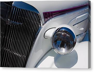Chevy Coupe Canvas Print - 1937 Chevy 2 Door Coupe by David Patterson