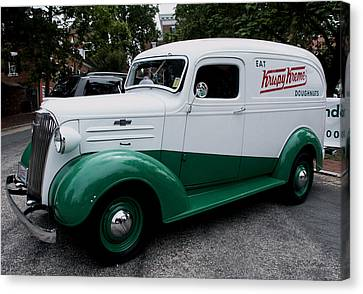 1937 Chevy Delivery Van Canvas Print by James C Thomas