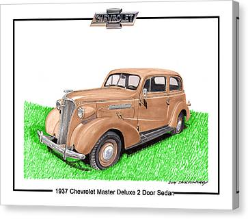 1937 Chevy Master Deluxe 2 Dr Sedan Canvas Print