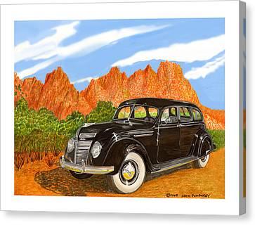 1937 Chrysler Airfow Canvas Print