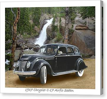 1937 Chrysler C-17 Airflow Eight Sedan Canvas Print