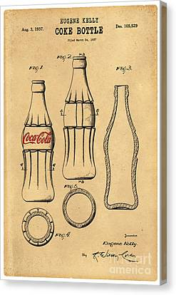 1937 Coca Cola Bottle Design Patent Art 5 Canvas Print by Nishanth Gopinathan