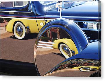 1937 Cord 812 Phaeton Reflected Into Packard Canvas Print by Jill Reger