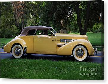 1937 Cord Convertible Canvas Print by Dennis Hedberg