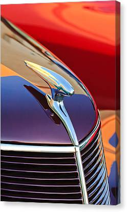 1937 Ford Hood Ornament 2 Canvas Print