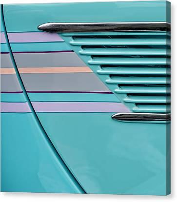 1937 Ford Sedan Slantback Door Detail Canvas Print by Carol Leigh