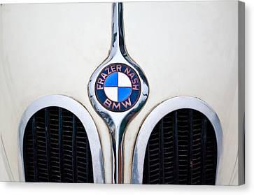 1937 Frazer Nash-bmw 328 Hood Emblem Canvas Print by Jill Reger