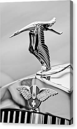 Hispano Suiza Canvas Print - 1937 Hispano-suiza Hood Ornament 2 by Jill Reger