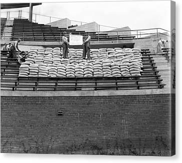 1937 Load Test At Wrigley Field Bleachers Canvas Print by Retro Images Archive