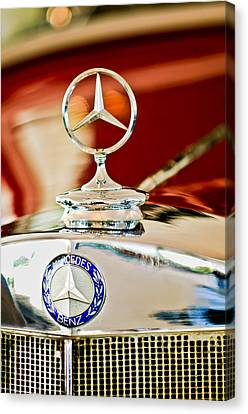 1937 Mercedes-benz Cabriolet Hood Ornament Canvas Print by Jill Reger
