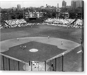 1937 Opening Day At Wrigley Field Canvas Print by Retro Images Archive