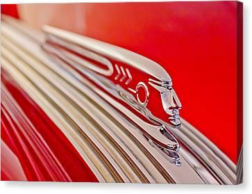 1937 Pontiac Chief Custom Hood Ornament Canvas Print by Jill Reger