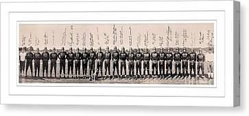 1937 Washington Redskins Team Photo Canvas Print by Unknown