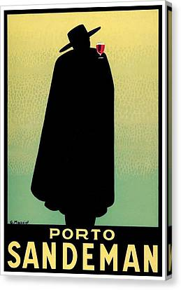 1938 - Porto Sandeman French Wines Advertisement Poster - Color Canvas Print