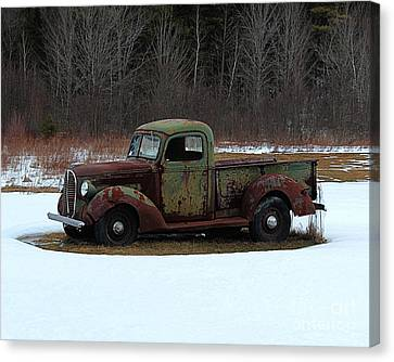 1938-39 Ford Pickup Canvas Print by Joseph Marquis