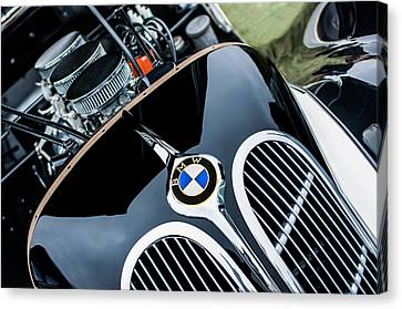 Bmw Vintage Cars Canvas Print - 1938 Bmw 327-8 Cabriolet Grille Emblem - Engine by Jill Reger