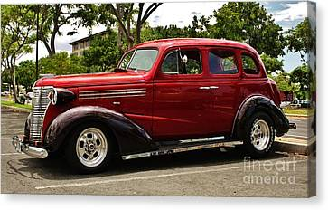 1938 Chevy 4 Door Sedan Canvas Print