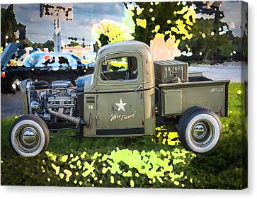 Pickup Truck Door Canvas Print - 1938 Chevy Pick Up Truck Rat Rod by Rich Franco