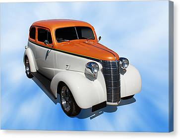 Canvas Print featuring the photograph 1938 Chevy Tudor by Keith Hawley
