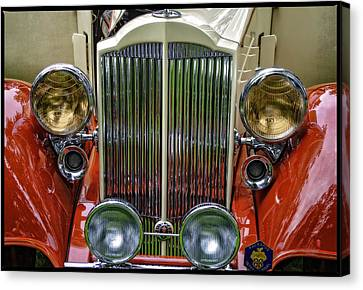 Canvas Print featuring the photograph 1928 Classic Packard 443 Roadster by Thom Zehrfeld