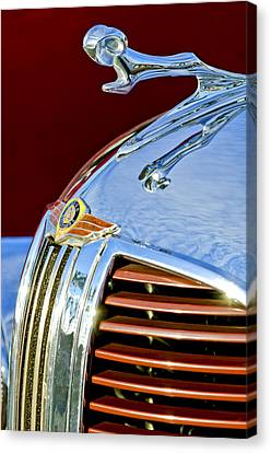 1938 Dodge Ram Hood Ornament 3 Canvas Print by Jill Reger