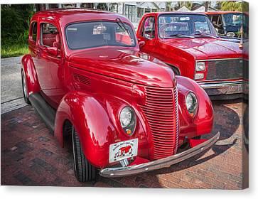 1938 Ford 2 Door Sedan Painted  Canvas Print by Rich Franco