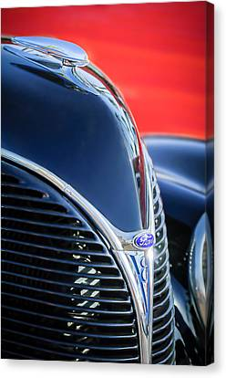 1938 Ford Hood Ornament - Grille Emblem -0089c Canvas Print