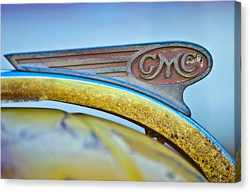 1938 Gmc Hood Ornament Canvas Print by Jill Reger