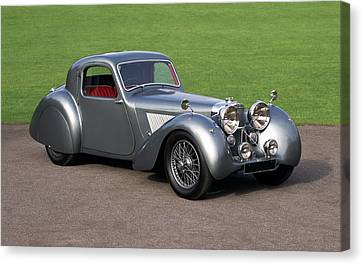 1938 Jaguar Ss100 Fhc Grey Lady Fixed Canvas Print by Panoramic Images