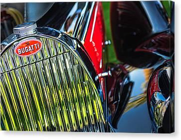 1939 Bugatti T57c Galibier Grille Emblem Canvas Print by Jill Reger
